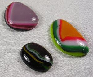 Fused Glass Puddle Cabochons