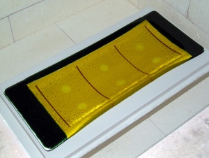 Fused Glass Tray - After Slumping