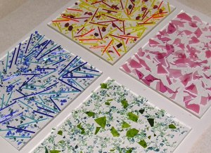 Fused Glass Part Sheets - After Firing