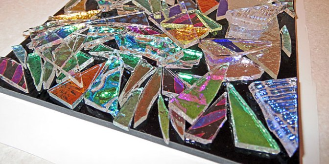 Fused Glass Dichroic Slab