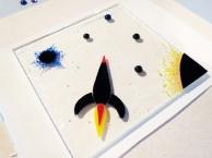Fused Glass Rocket Cheeseboard