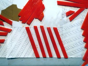 Glass strip cutting for fuseed glass bowl